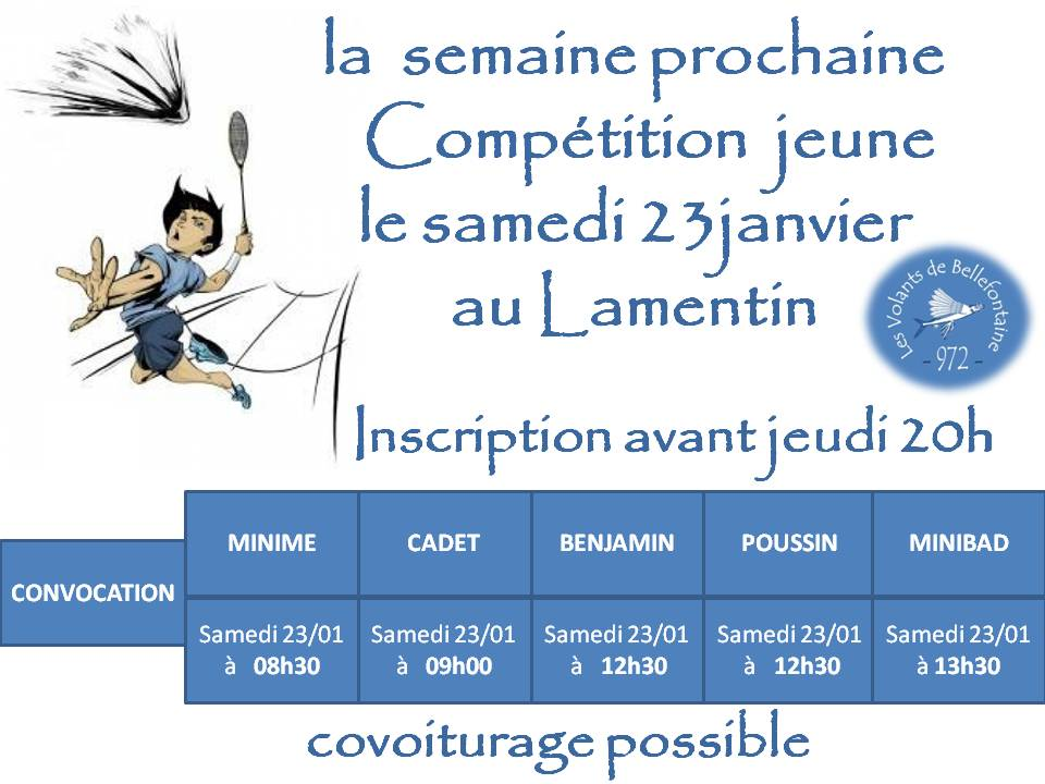 Competition 23 01 16